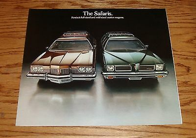 Original 1973 Pontiac Safari Station Wagon Sales Brochure 73