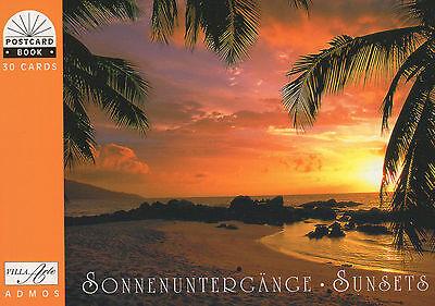 NEU: Postkartenbuch Sonnenuntergänge Sunsets 30 Postkarten, Postcards