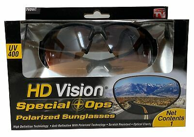 HD Vision Special Ops Polarized Sunglasses UV400 HDVISSOD Anti Reflect & (Polarised Vision)