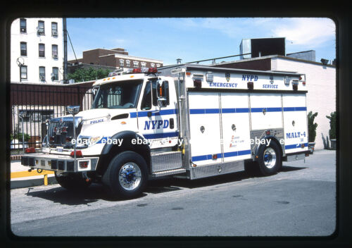 New York City Police MALT 4 2002 International Saulsbury Fire Apparatus Slide