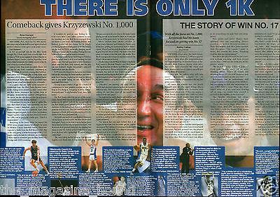 MIKE KRZYZEWSKI DUKE BLUE DEVILS BASKETBALL 1,000 WINS CHRONICLE NEWSPAPER  (Duke Blue Devils Paper)