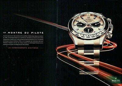 Publicité Advertising 049  2011  montre Rolex  cosmograph daytona  ( 2 pages)