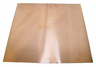 New Copper Sheet - 12 X 12 - Metal Working - 16 Oz 24 Gauge Crafts Art