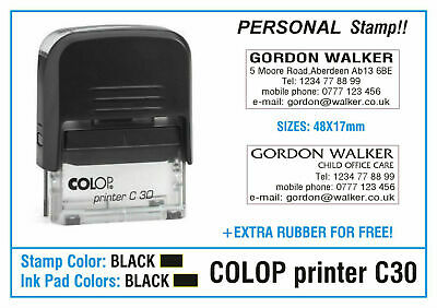 Colop 30 Self Inking Stamp Office Service Note Symbol Business Personal 2 Stamps