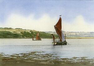 LOOKING TOWARDS THE ISLE OF SHEPPEY, KENT POSTCARD