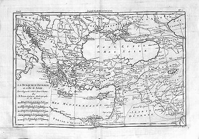 Antique maps, La Turquie d'Europe et celle d'Asiea