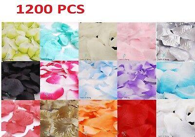 Fake Flower Petals Wedding Silk Decoration Artificial 1200pc Rose Confetti Party - Fake Flower Petals