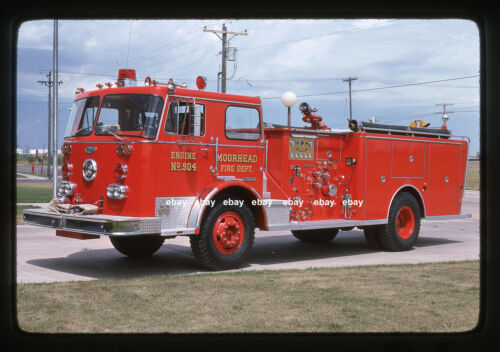 Moorhead MN 1970 FWD Tractioneer General Safety pumper Fire Apparatus Slide