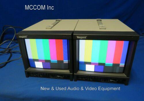 "Ikegami TM9-3 9"" Composite Analog Color Monitor Pair NO BNC Cables"