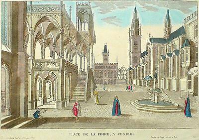 VENEDIG - Place De La Foire - Guckkastenblatt - Dembour & Gangel - Kupfer 1780