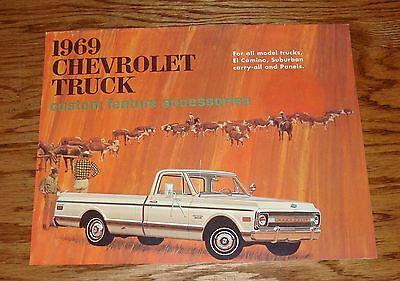 Chevrolet Truck Accessories Brochure - 1969 Chevrolet Truck Custom Feature Accessories Brochure 69 Chevy Pickup