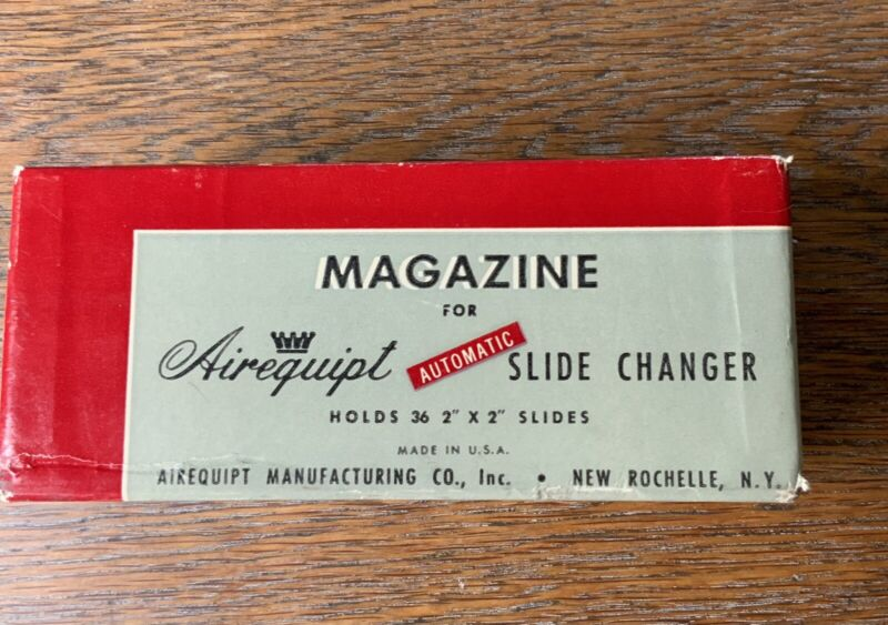 VINTAGE AIREQUIPT MAGAZINE  - AUTOMATIC SLIDE CHANGER HOLDS 36 2x2 Deadstock New