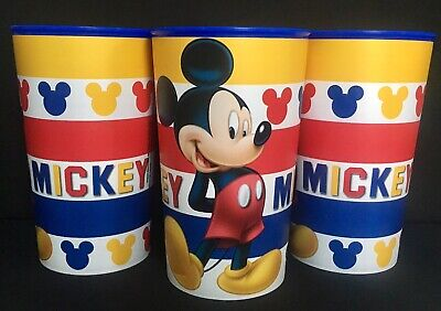 Disney MICKEY MOUSE 22 oz. Plastic Drinking, Party Favor, Cups Set/3, NEW](Mickey Mouse Plastic Cups)