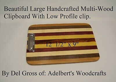"""Designer Clipboard 12 1/2 """"x 9'' Handcrafted Signed and Dated.  HandMade in USA."""