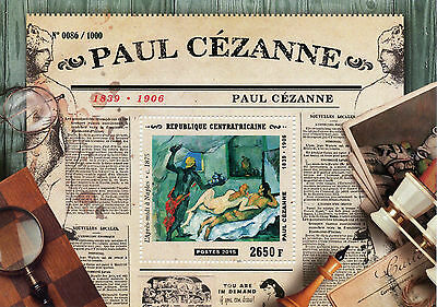 Central African Republic 2015 MNH Paul Cezanne 1v S/S Paintings Afternoon Naples