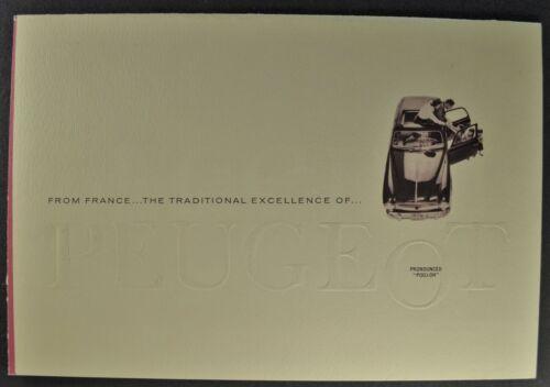 1960 Peugeot 403 Sedan Sales Brochure Folder Excellent Original 60