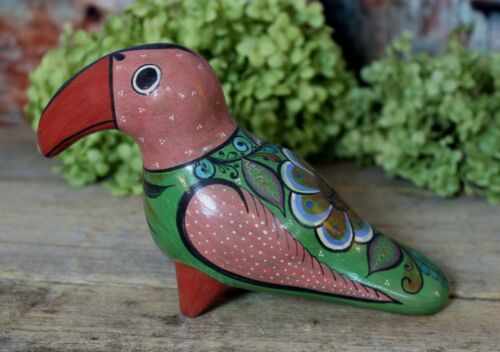 Toucan Tropical Bird Handmade Burnished Pottery Medrano Tonala Mexican Folk Art