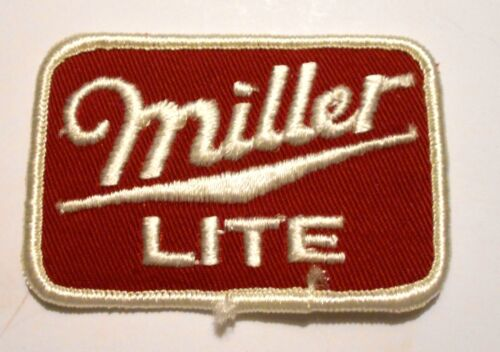 Miller Lite Beer Patch Embroidered Ale 3 inch Vintage Red
