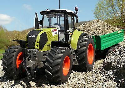 "RC Traktor CLAAS Axion 870 + Anhänger in XL Länge 72cm ""Ferngesteuert""  262455-1"