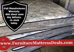 """NEW Double 54""""x74"""", 12"""" Thick Soft DUAL SIDED Mattress $450"""
