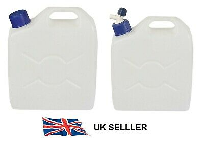 5 9.5 25L Litre Clear Plastic Jerry Can Bottle Water Container With Tamper Caps