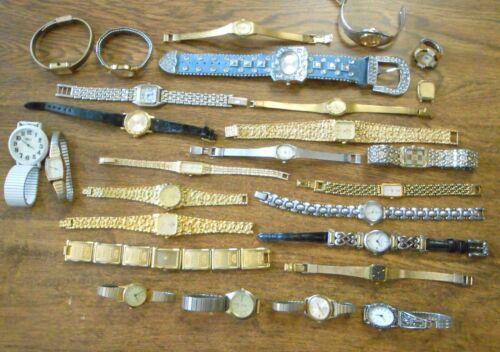 27 Vint Mixed Quartz Wrist Watches As Is For Parts Brighton Citizen Pearl Seiko