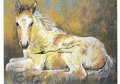 Kunstkarte: Loes Botman - Liegendes Fohlen