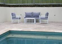 Outdoor Furniture Sets-Aluminium Faux Bamboo - CLEARANCE ITEM Byron Bay Byron Area Preview
