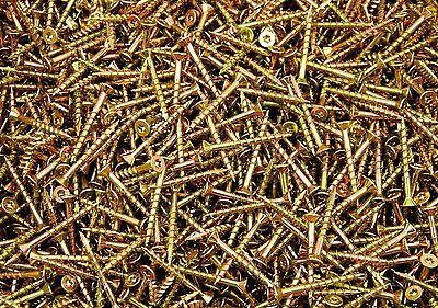 (700) Torx T20 Star Flat Head 8 x 1-5/8 Yellow Zinc Type 17 Outdoor Wood -