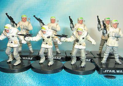 Star Wars Miniatures Lot  Elite Hoth Trooper Rebel Storm !!  s97