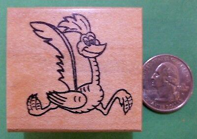Road Runner, Bird, Cartoon, Wood Mounted Rubber Stamp