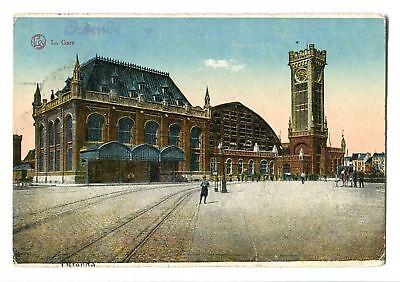 CPA-Carte postale-Belgique - Oostende - La Gare - 1922 (CP123)