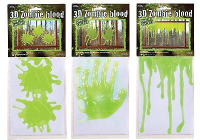 3D Zombie Blood Ooze Window Decor Halloween Party Decoration Hands Splats Drips - Zombie Hands Halloween Decorations
