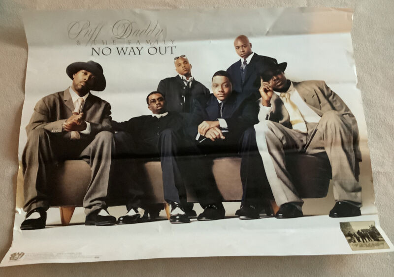 Original Puff Daddy And The Family Store Promo Poster No Way Out Bad Boy - 1997