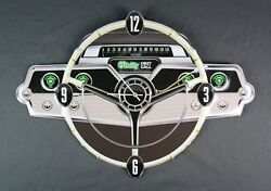 Rare O'Reilly Auto Parts Metal Wall Clock Steering Wheel Dash First Call