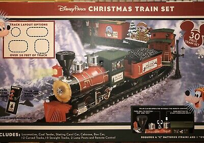 Disney Parks Christmas 30 pc Train Set Mickey & Friends NIB w/remote control