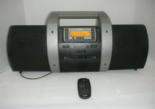 Sirius XM Satellite Radio SUBX1 Boom Box Stratus SV3 & Antenna With Subscription