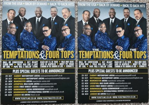 2 Flyers - The Temptations & The Four Tops  - UK Tour 2020