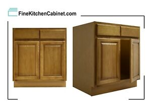 All Wood Rta Country Oak Sink Base Cabinet Sb24 Ready To Emble Kitchen