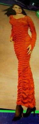 Halloween Costume Coffin Queen Model Sexy Fitted Red Velvet XS 2-6 - Sexy Red Queen Kostüm