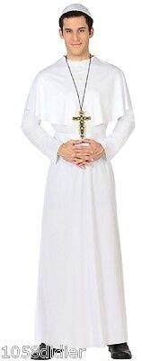 Costume Uomo PAPE Bianco XL Adulto Religion Chiesa Sacerdote di pastore