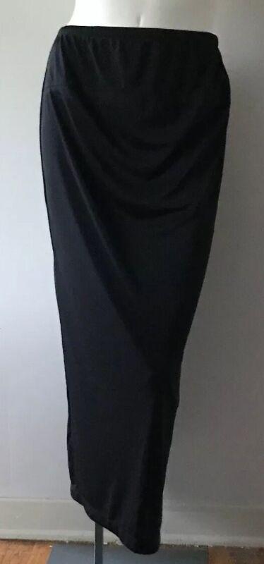 Motherhood Maternity 100% Polyester Solid Black Long Skirt Women's Size S