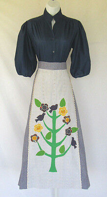 VTG 1960s 70s MOD CAREFREE FASHIONS TREE OF LIFE SKIRT SHIRT BELT SMALL FLOWERS