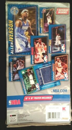 NBA 34 Basket Ball Valentine Day Cards/ Poster  Box  damage  with Kobe Bryant