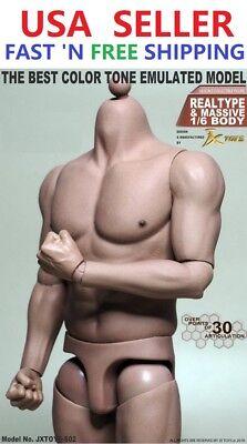 1 6 Scale Male Muscular Figure Body For Worldbox Hot Toys Ttm20 Ganghood 1 0