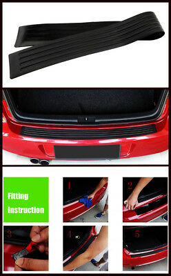 35 Rear Bumper Guard Rubber Protector Trim Cover Scuff Car Trunk Protectors US