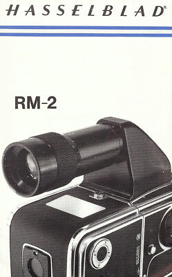 HASSELBLAD CAMERA RM-2 REFLEX VIEWFINDER USE INSTRUCTIONS