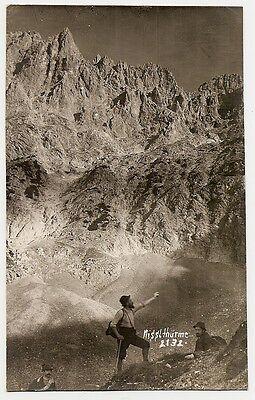 Nißltürme, Lamsenjochhütte,Bergsteiger, Karwendel, Pertisau, Vomp, Stans, 1920