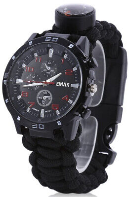 Multifunction Outdoor Survival Watch for Men Tactical Military Compass