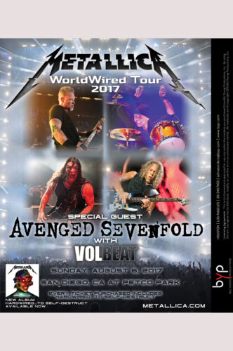 MC GRAMMY Winners Metallica Hardwired Experience August 6, San Diego, CA